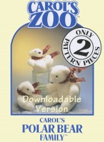 Polar Bear Family Pattern - Instant Download - Product Image