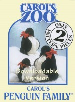 Penguin Family Pattern - Instant Download - Product Image